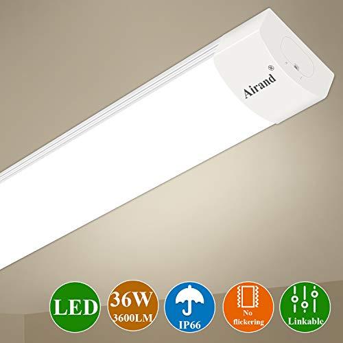 Luz de tubo LED, Airand 120CM 36W LED IP66 Luminaria de Taller...