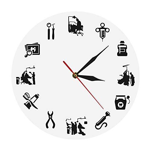 Cwanmh Dentalhygienikerin Moderne Wanduhr Zahnklinik Dekoration Zahnmedizin Zahnarztpraxis Zeichen Hygieniker Uhr Uhr Zahnarzt Geschenk 30x30cm