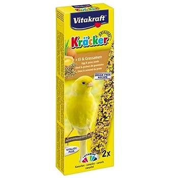 Vitakraft Kracker Lot de 7paquets de 2 bâtonnets de friandises aux œufs et graminées Pour canaris