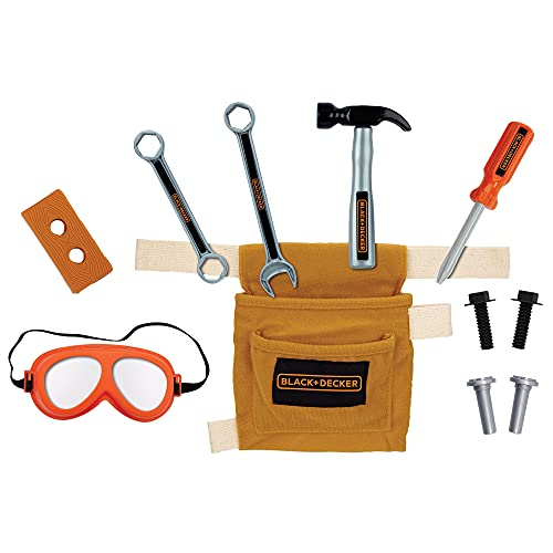 BLACK+DECKER Jr Tool Belt Set with 11 Tools and Accessories