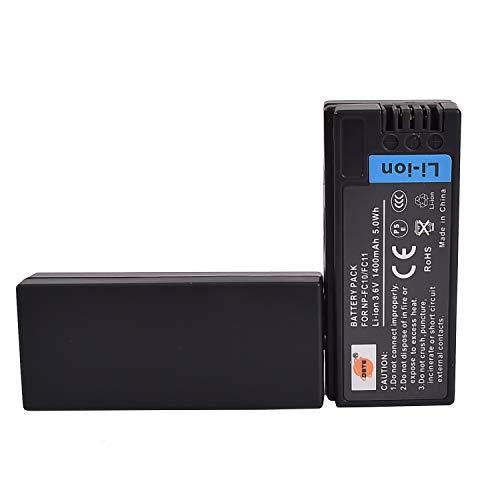 DSTE 2-Pack Ersatz Batterie Akku for Sony NP-FC10 NP-FC11 Cyber-shot DSC-F77 DSC-FX77 DSC-P2 DSC-P3 DSC-P5 DSC-P7 DSC-P8 DSC-P9 DSC-P10 DSC-P12 Kamera