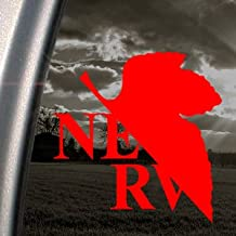 EVANGELION Red Decal NERV Anime Car Truck Window Red Sticker