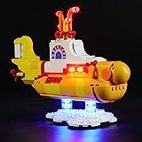 BRIKSMAX Kit de Iluminación Led para Lego The Beatles Yellow Submarine,Compatible con Ladrillos de Construcción Lego Modelo 21306, Juego de Legos no Incluido