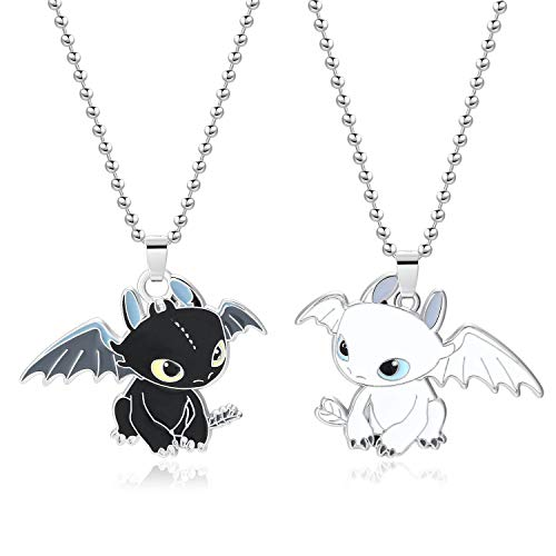 XOFOAO How to Train Your Dragon Toothless Charm Necklace Single-Sided Cosplay