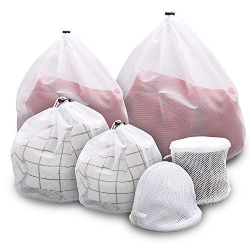 AVNICUD Wäschesäcke 6 Stück für Waschmaschinen, Strapazierfähiger Waschmaschinenbeutel für T-Shirt, Strumpfwaren, Unterwäsche, BH, Büstenhalter, Socken, Unterwäsche
