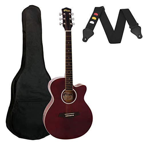 Tiger Small Body Acoustic Guitar for Beginners Guitar - Red