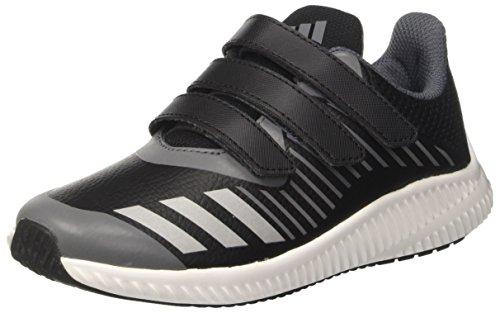 adidas adidas Fortarun Cf K, Unisex-Kinder Sneakers,Grau (Cblack/Silvmt/Onix), 35 EU