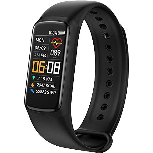 Smartwatch,Pulsera Actividad Inteligente,Con Frecuencia Cardíaca, Presión Arterial,Oxígeno en Sangre,Monitor de Sueño,Contador de Calorías,Rastreador de Ejercicios a Prueba de Agua IP67