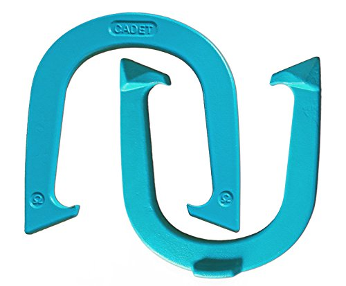 Light Weight Cadet Pitching Horseshoes - Blue Finish – NHPA Sanctioned for Tournament Play - Drop Forged Steel - One Pair (2 Shoes)