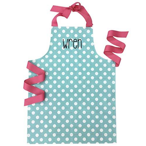 Personalized Handmade Aqua Dot Baking or Art Apron Gift for Tween Girl