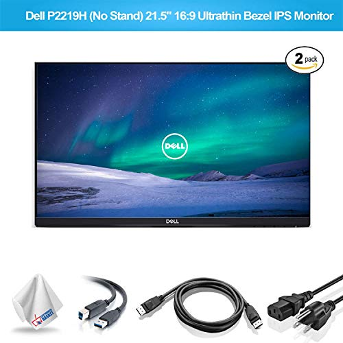 Dell P2219H 21.5-Inch 16:9 Ultrathin Bezel IPS Monitor No Stand (P2219HNS) with Microfiber Cleaning Cloth - 2 - Pack -  P2219H_EDIMA2_110