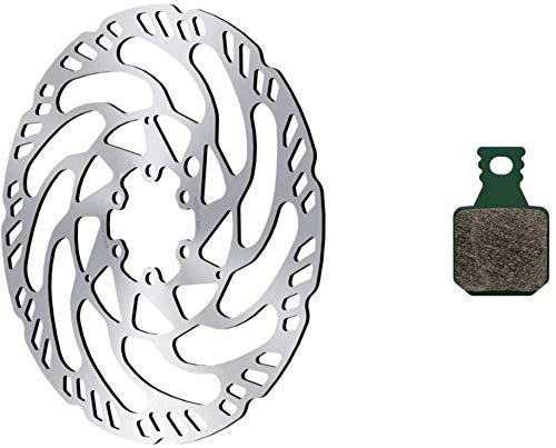 Magura Unisex– Erwachsene Bremsscheibe Brems, Silber/grün, Ø 180 mm
