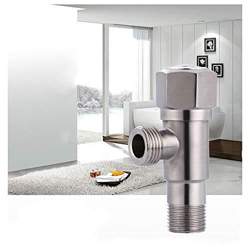 Válvula de ángulo para lavabo, de acero inoxidable, conexión a pared, para baño o agua, 18 mm