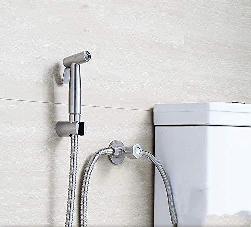 COOLLL Toilet Brush,Toilet Hose Bidet Sprayer Toilet Sprayer Kit Best Personal Sanitary Shower Set - Washable Toilet Butt Washer Rinser 304 Stainless Steel Lead-Free Spray Gun-B