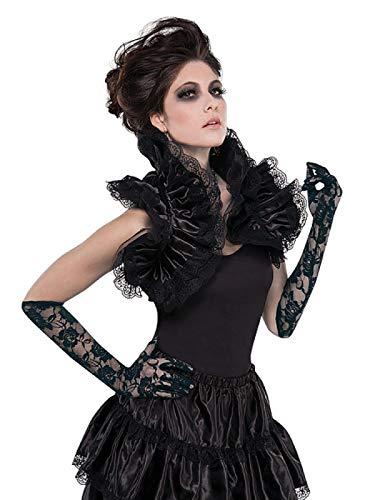 amscan 842083-55 Schwarzes Gothic Rüschen-Kostüm, 1 Stück
