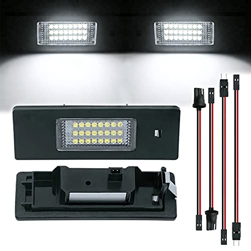 ZLone 2pcs DIRIGIÓ Número de Licencia Luz de Placa No Error 2 4SMD Lámparas de Coche para BMW 1 Serie E81 E87 E87N F20 F21 Fuente de luz de Coche Placas de números