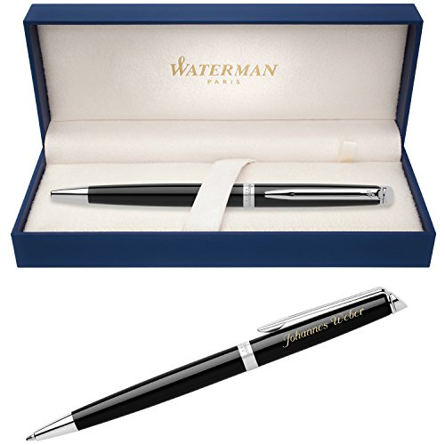 WATERMAN Kugelschreiber HEMISPHERE Essential Schwarz C.C. S0920570 mit persönlicher Laser-Gravur