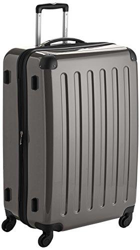 HAUPTSTADTKOFFER - Alex - Hartschalen-Koffer Koffer Trolley Rollkoffer Reisekoffer Erweiterbar, 4 Rollen, 75 cm, 119 Liter, Graphit