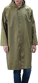 YOUCAI Adults Men & Women Portable Lightweight Rainwear - Oxford Cloth One-Piece Waterproof Rain Poncho Raincoat with Larg...