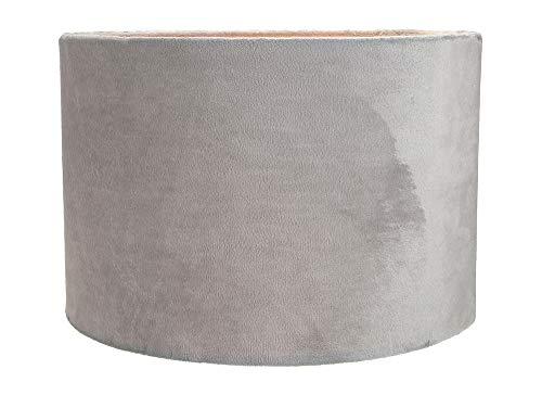 """Moderner und stilvoller Grau Weich Pinselbarer Samt 12"""" Lampe/Hängeschirm von Happy Homewares"""