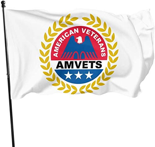 BUSHUO American Veterans Amvets Garden Flag Welcome Decorations Outdoor Vertical Double Sided Flag 3X5 Ft