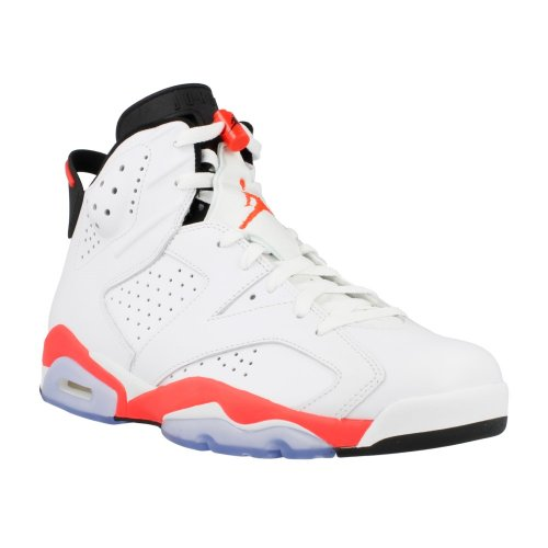 Nike Air Jordan 6 Retro 'White Infrared' White/Infrared-Black Trainer Size 6 UK