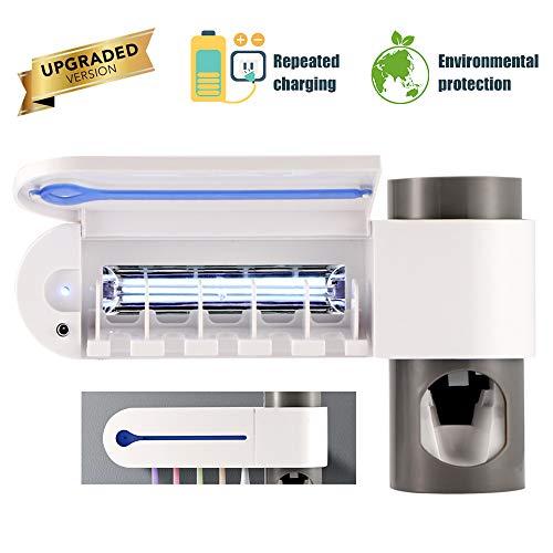 Ourleeme Anti-bakterien Ultraviolettstrahlen Desinfektion Zahnbürstenhalter & Automatische Zahnbürste Sterilisator Zahnbürste Aufbewahrungshalterung Mit USB-Aufladung, B