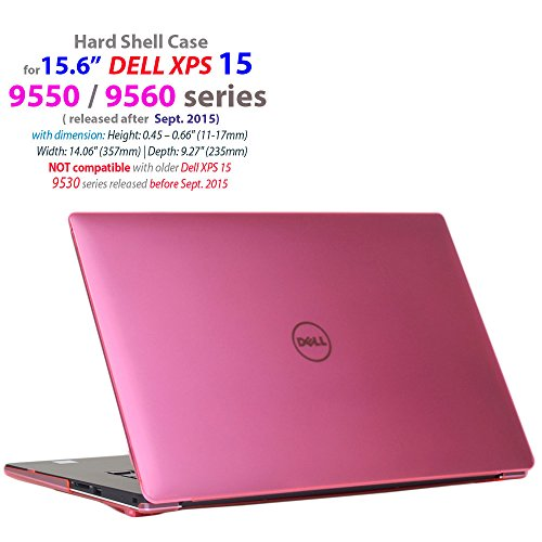 mCover Hardcase für Dell XPS 15 9570/9560/9550/Precision 5510 15,6 Zoll (Modell: 5510/9550/9560/9570) Pink