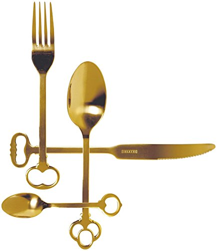 Seletti Keytlery Set of 24 Cutlery, Gold