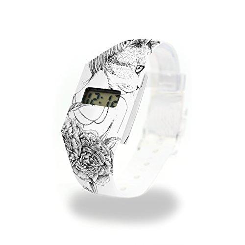 CATCARDIFF Pappwatch/Paperwatch/Digitale Armbanduhr aus Tyvek® - absolut reissfest und wasserabweisend - Standard