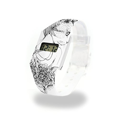 CATCARDIFF - Pappwatch - Paperlike Watch - Digitale Armbanduhr im trendigen Design - aus absolut reissfestem und wasserabweisenden Tyvek® - Made in Germany, absolut reißfest und wasserabweisend