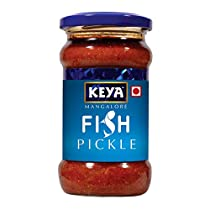 Keya Mangalore Fish Pickle  Glass Bottle Pack of 2 x 270 gm