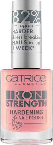 Catrice Iron Strength Hardening Nail Polish, Nailpolish, Nagellack, Nr. 03 Lovely Rose Quartz, pink, für weiche Nägel, härtend, scheinend, ohne Aceton, vegan, Mikroplastik Partikel frei (10ml)