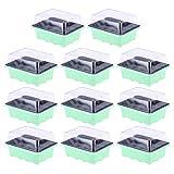 Doiol - Mini serra per semine, con 12 celle, mini serra da giardino, in plastica, per avvi...