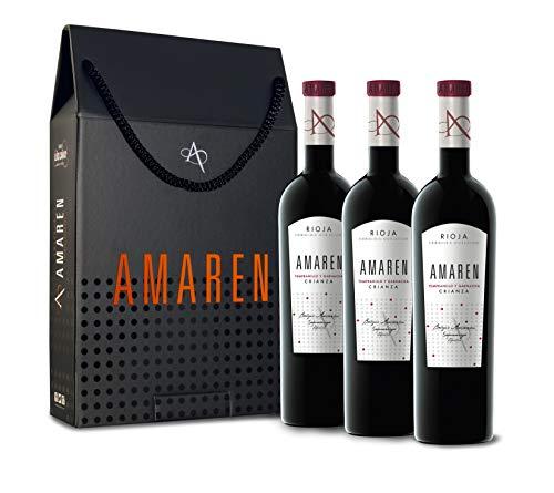 Amaren crianza Vino Tinto Estuche 3 Botellas - 750 ml