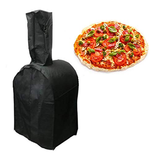 awhao 210T Oxford Pizza Oven Cover Waterproof Heavy-Duty Protective Grill Oven Cover Classic Outdoor Pizza Oven Cover - Durable and Water Resistant Outdoors Camping Cover -3 Size Astonishing fine