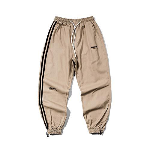 N/ A Pantaloni Sportivi Casual a Due Strisce da Uomo Pantaloni Cargo Leggeri Escursionismo Campeggio Trekking Ciclismo Pantaloni Elasticizzati da Caccia