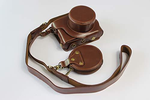 BolinUS Leica D-Lux 7 Hülle, handgefertigt, PU-Leder, Ganzkörper-Kameratasche für Leica D-Lux 7 Version mit Öffnung unten + Umhängeband + Mini-Aufbewahrungstasche (Kaffee)