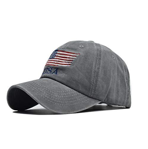 XibeiTrade Gorra de béisbol de algodón con la bandera de Estados Unidos para hombres y mujeres para deportes al aire libre