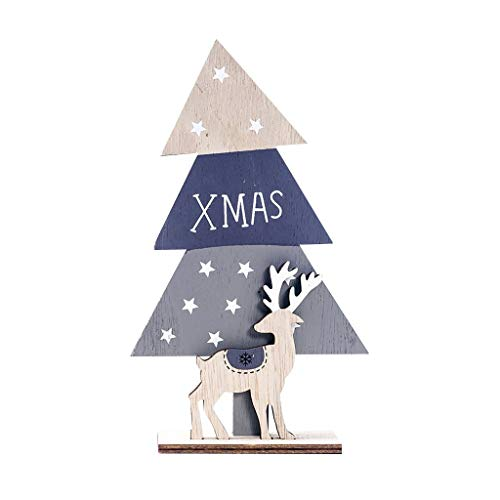 Voberry Christmas Decorations Christmas Decorations for The Home Xmas Wooden Santa Christmas Tree Festival Ornament Home Decor A