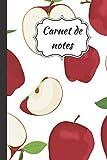 Carnet de notes: Cahier pour écrire ses pensées, idées, projets, chansons, … | Idéal pour l'école, le travail et la maison | Journal ligné avec ... pomme entière et coupée | 160 pages, 6 x 9 po