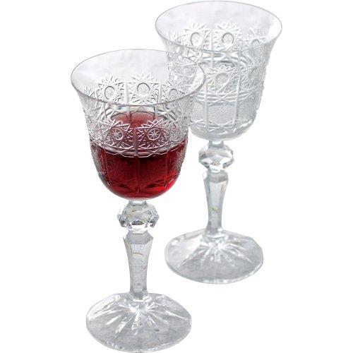 ボヘミアクリスタル ワイングラスペア PK/130/2