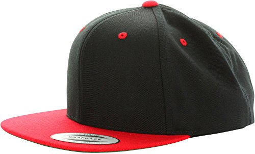 Yupoong Snapback Classcis Black / Red - One-Size