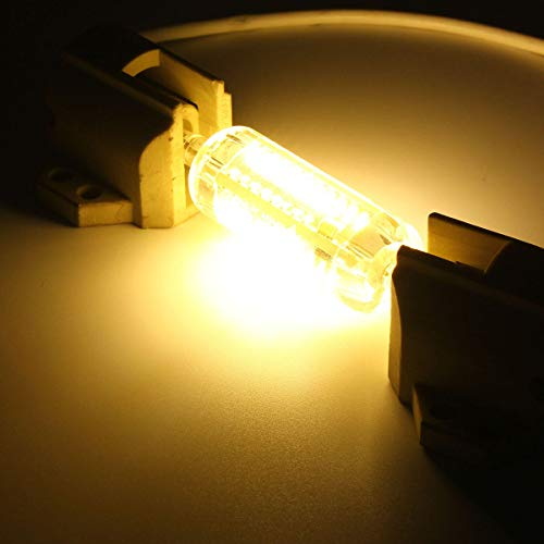 sanshi Bombilla de Bombillas de luz de iluminación R7S 78mm 5W 76 SMD 4014 LED Puro Blanco Lámpara Blanca Blanca Bombilla AC110V Bombillas LED Bombillas halógenas Zzzb (Color : Warm White)