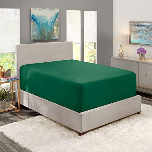Lençóis de elástico Nestl Bedding com bolso profundo de 53 cm – pais, Hunter Green, California King