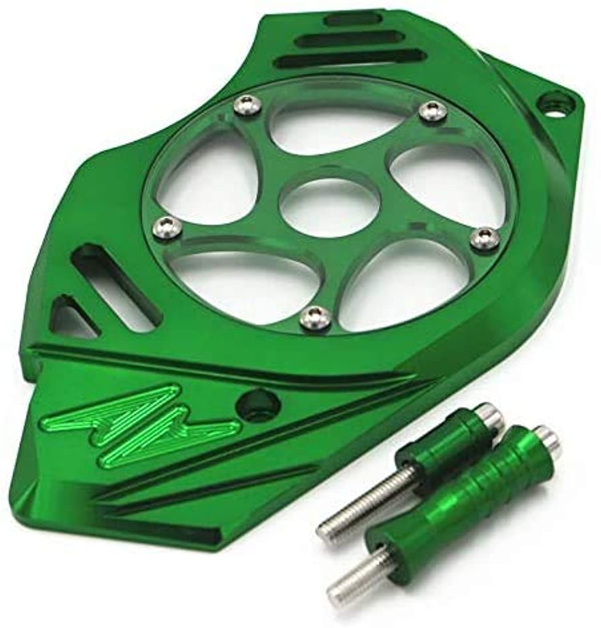 ショートカットスコア見積りYLEIエレガントな外観 実用的なバイクアクセサリーのためにKAWASAKI Z1000 Z 1000年2010年から2017年オートバイアクセサリーモトフロントスプロケット左サイドチェーンガードカバーエンジンの保護 (Color : Green)