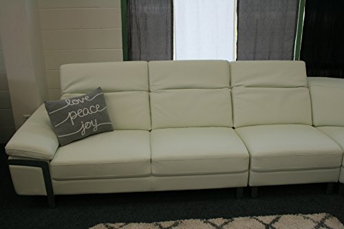 The Lorna Premium Leather White Sectional Sofa 3