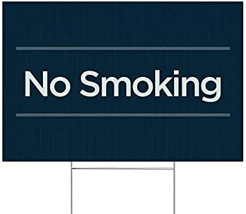 CGSignLab Basic Navy Double-Sided Weather-Resistant Yard Sign 5-Pack 18x12 No Smoking