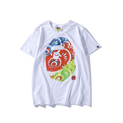 Camiseta de manga corta de algodón para hombre, diseño de Big Brother, de Discountl, para hombre y mujer, de tres colores, con bandera japonesa, para hombre y mujer