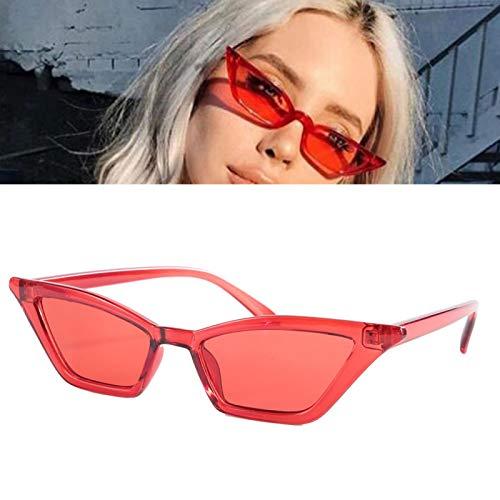 Bonito ornamento para mujer, gafas de sol de resina plástica de calidad, gafas de sol de moda, para la familia de la oficina(Red frame)